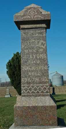 LYONS, SUSAN - Crawford County, Ohio | SUSAN LYONS - Ohio Gravestone Photos