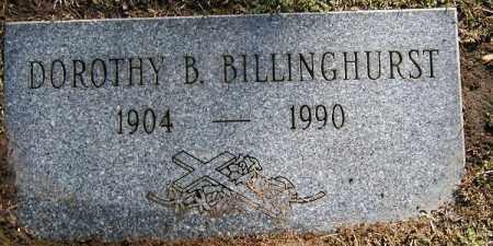 CARTER BILLINGHURST, DOROTHY B. - Cuyahoga County, Ohio   DOROTHY B. CARTER BILLINGHURST - Ohio Gravestone Photos