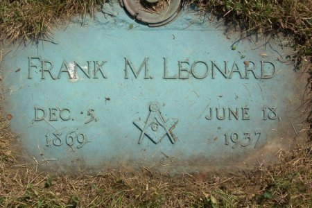 LEONARD, FRANK M - Cuyahoga County, Ohio   FRANK M LEONARD - Ohio Gravestone Photos