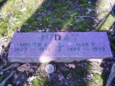 NIDAY, HOMER ALVIN - Cuyahoga County, Ohio | HOMER ALVIN NIDAY - Ohio Gravestone Photos