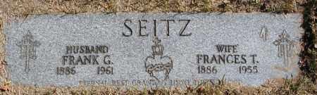 SEITZ, FRANK G. - Cuyahoga County, Ohio | FRANK G. SEITZ - Ohio Gravestone Photos