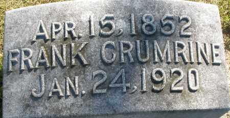CRUMRINE, FRANK - Darke County, Ohio   FRANK CRUMRINE - Ohio Gravestone Photos