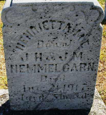 HEMMELGARN, HENRIETTA - Darke County, Ohio | HENRIETTA HEMMELGARN - Ohio Gravestone Photos
