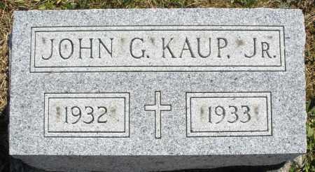 KAUP, JOHN G. JR. - Darke County, Ohio   JOHN G. JR. KAUP - Ohio Gravestone Photos