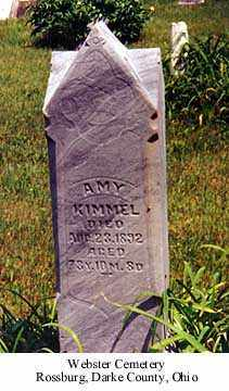 SAWVEL KIMMEL, AMY - Darke County, Ohio | AMY SAWVEL KIMMEL - Ohio Gravestone Photos