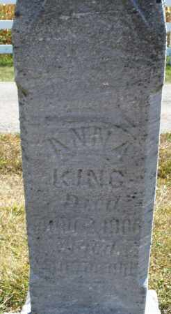 KING, ANNA - Darke County, Ohio | ANNA KING - Ohio Gravestone Photos