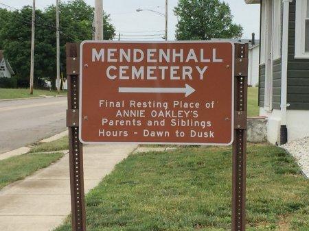 MENDENHALL CEMETERY SIGN, -- - Darke County, Ohio | -- MENDENHALL CEMETERY SIGN - Ohio Gravestone Photos