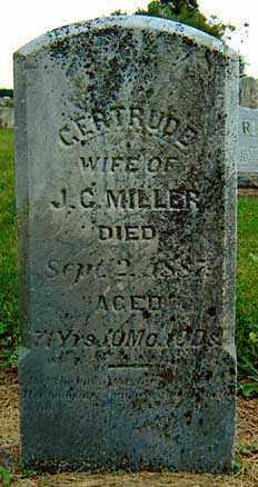 KREIDER MILLER, GERTRUDE - Darke County, Ohio | GERTRUDE KREIDER MILLER - Ohio Gravestone Photos