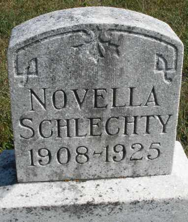 SCHLECHTY, NOVELLA - Darke County, Ohio | NOVELLA SCHLECHTY - Ohio Gravestone Photos