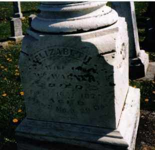 WAGNER, ELIZABETH - Darke County, Ohio | ELIZABETH WAGNER - Ohio Gravestone Photos