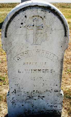 WIMMERS, ANNA MARIA - Darke County, Ohio   ANNA MARIA WIMMERS - Ohio Gravestone Photos