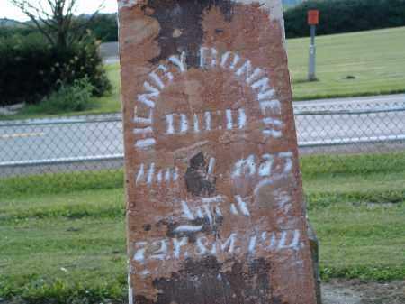 BONNER, HENRY - Delaware County, Ohio   HENRY BONNER - Ohio Gravestone Photos