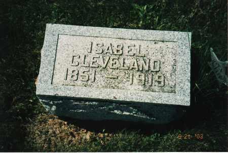CLEVELAND, ISABEL - Delaware County, Ohio | ISABEL CLEVELAND - Ohio Gravestone Photos