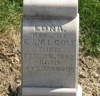 COLE, M.L. - Delaware County, Ohio | M.L. COLE - Ohio Gravestone Photos