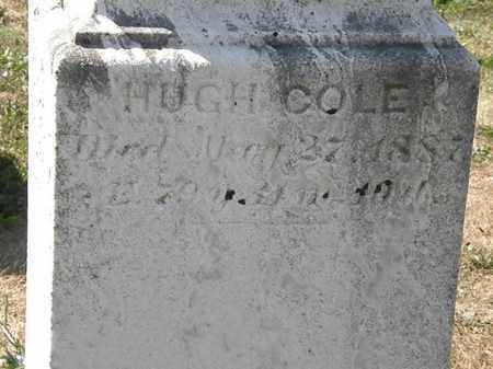 COLE, HUGH - Delaware County, Ohio | HUGH COLE - Ohio Gravestone Photos