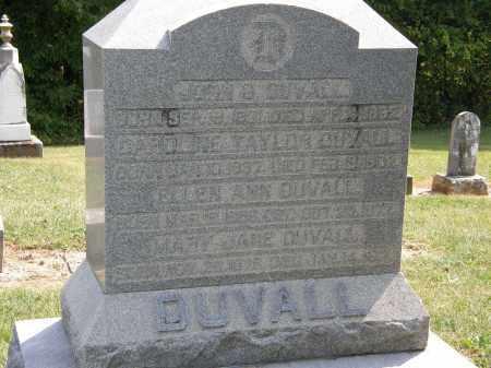 DUVALL, MARY JANE - Delaware County, Ohio | MARY JANE DUVALL - Ohio Gravestone Photos
