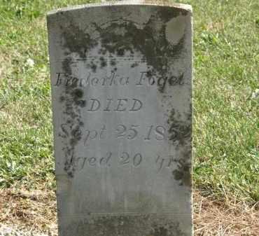 FOGEL, FREDERKA - Delaware County, Ohio   FREDERKA FOGEL - Ohio Gravestone Photos