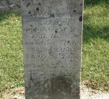 HENDERSON, MARABA - Delaware County, Ohio | MARABA HENDERSON - Ohio Gravestone Photos