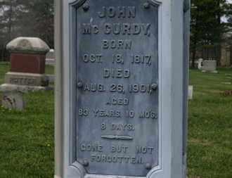 MCCURDY, JOHN - Delaware County, Ohio   JOHN MCCURDY - Ohio Gravestone Photos