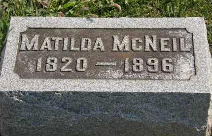 MCNEIL, MATILDA - Delaware County, Ohio | MATILDA MCNEIL - Ohio Gravestone Photos