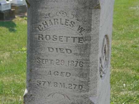 ROSETTE, CHARLES W. - Delaware County, Ohio | CHARLES W. ROSETTE - Ohio Gravestone Photos