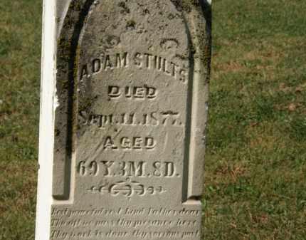 STULTS, ADAM - Delaware County, Ohio   ADAM STULTS - Ohio Gravestone Photos