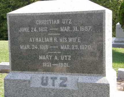 UTZ, CHRISTIAN - Delaware County, Ohio | CHRISTIAN UTZ - Ohio Gravestone Photos