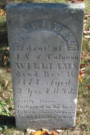 WILLIAMS, CORNEALIA M. - Delaware County, Ohio   CORNEALIA M. WILLIAMS - Ohio Gravestone Photos