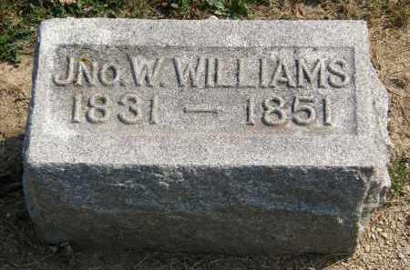 WILLIAMS, JNO. W. - Delaware County, Ohio   JNO. W. WILLIAMS - Ohio Gravestone Photos
