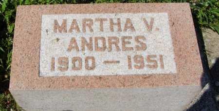 V ANDRES, MARTHA - Erie County, Ohio | MARTHA V ANDRES - Ohio Gravestone Photos