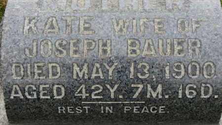 BAUER, KATIE - Erie County, Ohio | KATIE BAUER - Ohio Gravestone Photos