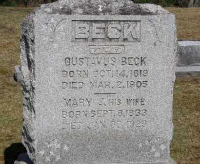 BECK, GUSTAVUS - Erie County, Ohio | GUSTAVUS BECK - Ohio Gravestone Photos