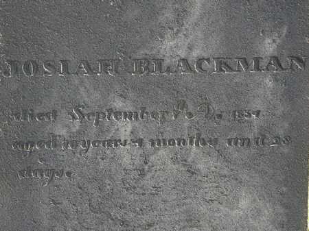 BLACKMAN, JOSIAH - Erie County, Ohio   JOSIAH BLACKMAN - Ohio Gravestone Photos