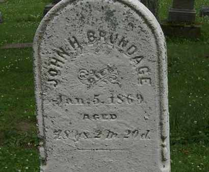BRUNDAGE, JOHN H. - Erie County, Ohio   JOHN H. BRUNDAGE - Ohio Gravestone Photos