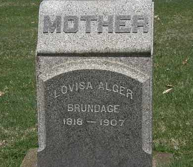 BRUNDAGE, LOUISA ALGER - Erie County, Ohio | LOUISA ALGER BRUNDAGE - Ohio Gravestone Photos