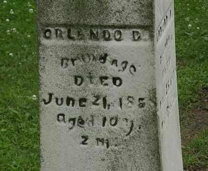 BRUNDAGE, ORLANDO D. - Erie County, Ohio | ORLANDO D. BRUNDAGE - Ohio Gravestone Photos