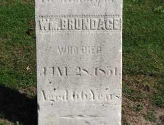 BRUNDAGE, WM. - Erie County, Ohio | WM. BRUNDAGE - Ohio Gravestone Photos