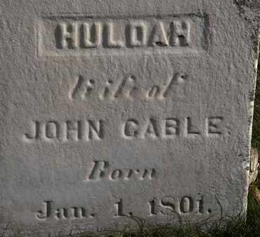 CABLE, HULDAH - Erie County, Ohio   HULDAH CABLE - Ohio Gravestone Photos