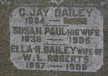 PAUL DAILEY, SUSAN - Erie County, Ohio | SUSAN PAUL DAILEY - Ohio Gravestone Photos