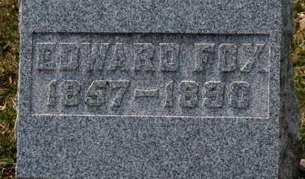FOX, EDWARD - Erie County, Ohio | EDWARD FOX - Ohio Gravestone Photos