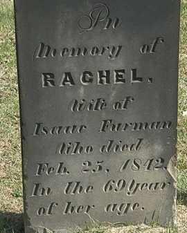 FURMAN, RACHEL - Erie County, Ohio | RACHEL FURMAN - Ohio Gravestone Photos