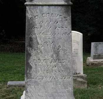 GRAVES, MARY S. - Erie County, Ohio | MARY S. GRAVES - Ohio Gravestone Photos