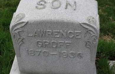 GROFF, LAWRENCE - Erie County, Ohio   LAWRENCE GROFF - Ohio Gravestone Photos
