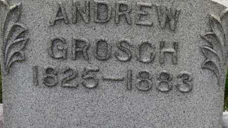 GROSCH, ANDREW - Erie County, Ohio   ANDREW GROSCH - Ohio Gravestone Photos