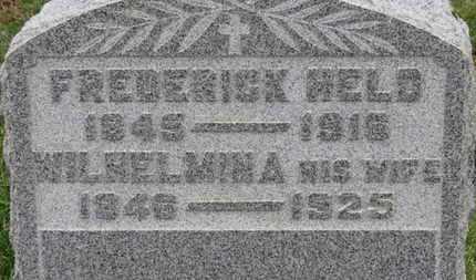 HELD, WILHELMINA - Erie County, Ohio   WILHELMINA HELD - Ohio Gravestone Photos