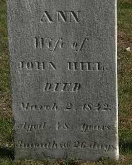 HILL, ANN - Erie County, Ohio | ANN HILL - Ohio Gravestone Photos