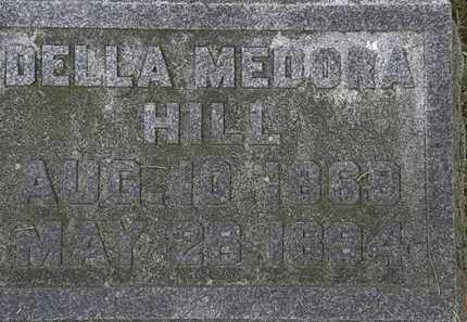 HILL, DELLA MEDORA - Erie County, Ohio | DELLA MEDORA HILL - Ohio Gravestone Photos