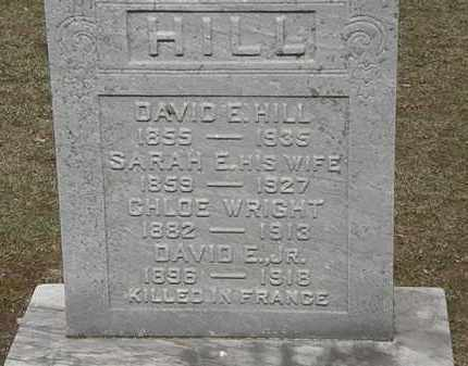 HILL, DAVID E. JR. - Erie County, Ohio | DAVID E. JR. HILL - Ohio Gravestone Photos