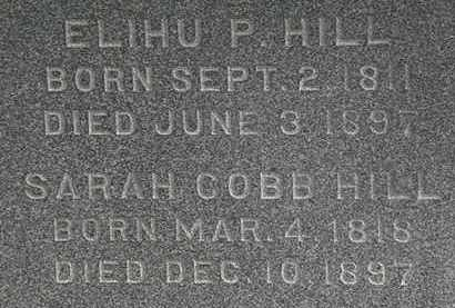 HILL, ELIHU - Erie County, Ohio | ELIHU HILL - Ohio Gravestone Photos