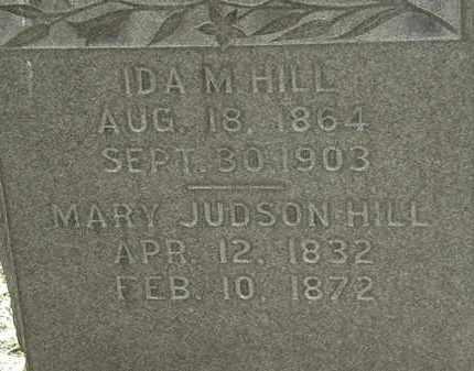 HILL, MARY JUDSON - Erie County, Ohio | MARY JUDSON HILL - Ohio Gravestone Photos
